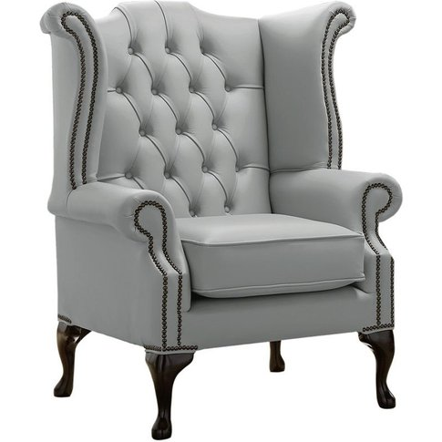 Chesterfield Queen Anne High Back Wing Chair Shelly ...