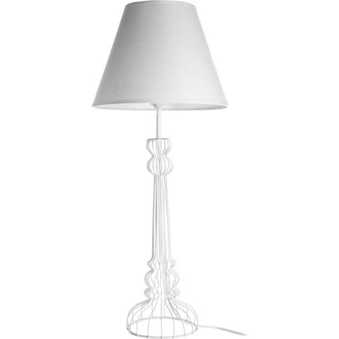 Big Living - Chicago White Table Lamp With White Sha...