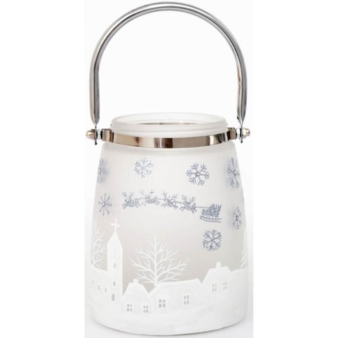 Frosted Glass Christmas Candle Holder - Sifcon International