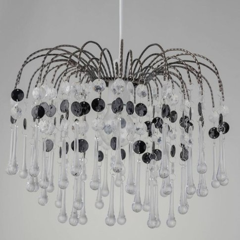Clear & Black Waterfall Easy Fit Light Shade - First...