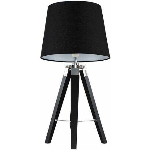 Clipper Tripod Table Lamp In Black - Black - Minisun