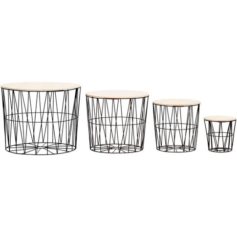 Coffee Table 4 Pcs Black - Youthup
