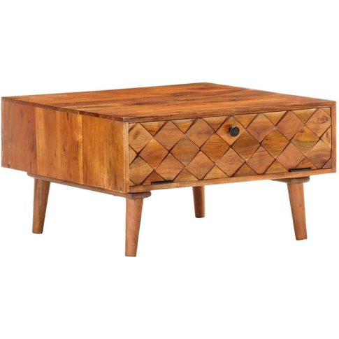 Vidaxl - Coffee Table 68x68x38 Cm Solid Acacia Wood