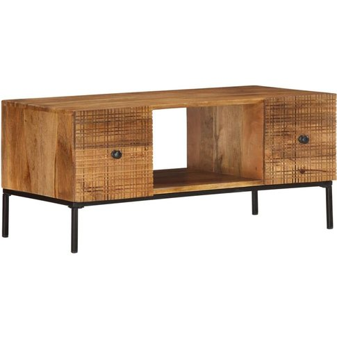 Coffee Table 90x45x40 Cm Solid Mango Wood - Youthup