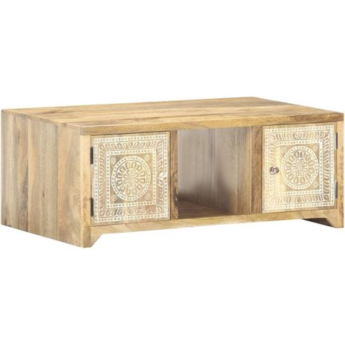 Vidaxl - Coffee Table 90x50x35 Cm Solid Mango Wood