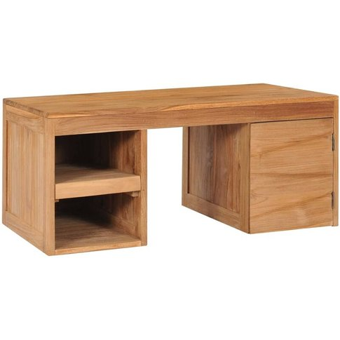 Vidaxl - Coffee Table 90x50x40 Cm Solid Teak Wood