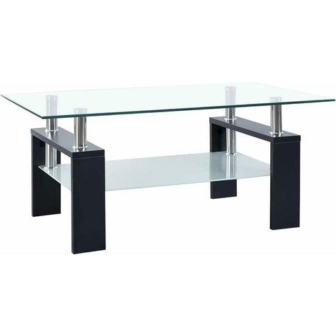 Vidaxl - Coffee Table Black 95x55x40 Cm Tempered Glass