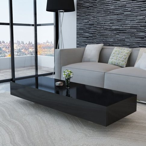 Coffee Table High Gloss Black - Youthup