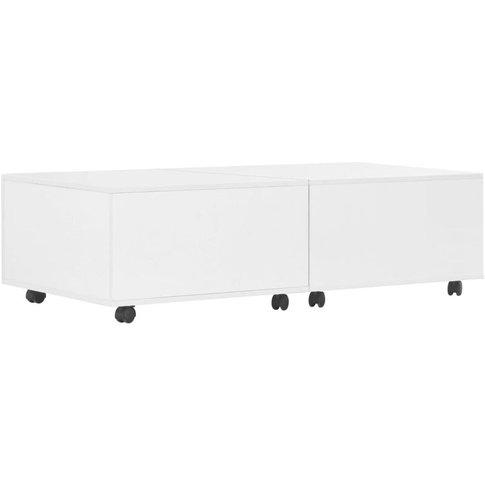 Vidaxl - Coffee Table 120x60x35 Cm High Gloss White