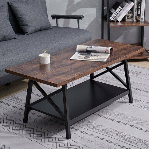 Livingandhome - Coffee Table, Living Room Table, Lar...