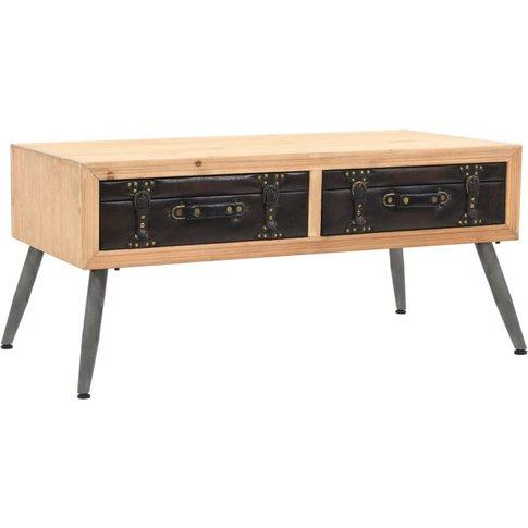 Vidaxl - Coffee Table Solid Fir Wood 115x55x50 Cm