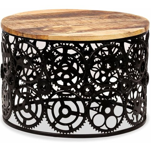Coffee Table Solid Mango Wood 60x40 Cm - Youthup