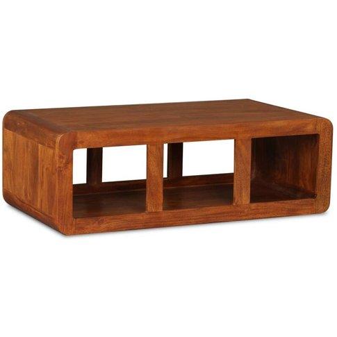 Vidaxl - Coffee Table Solid Wood With Sheesham Finis...