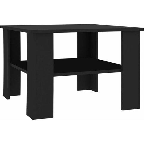 Coffee Table 60x60x42 Cm Chipboard Black - Vidaxl