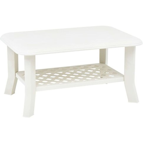 Youthup - Coffee Table White 90x60x46 Cm Plastic