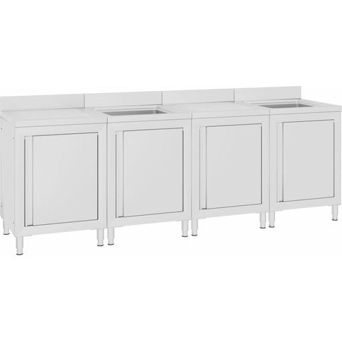 Commercial Kitchen Sink Cabinet 240x60x96 Cm Stainle...
