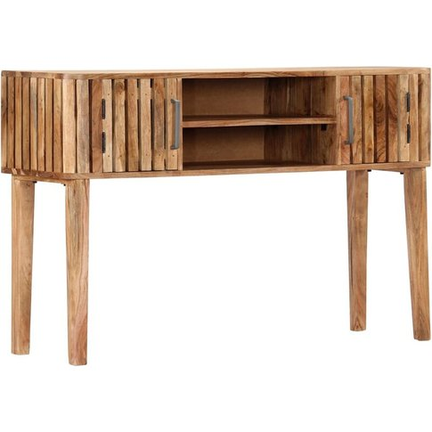 Console Table 120x35x76 Cm Solid Acacia Wood - Youthup