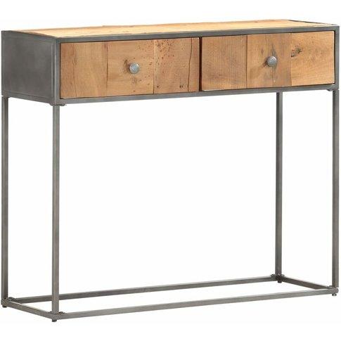 Console Table 90x30x75 Cm Solid Reclaimed Wood - Vidaxl