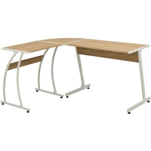 Corner Desk L-Shaped Oak - Youthup