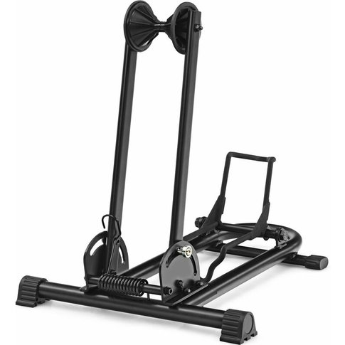 Foldable Bike Stand, Adjustable Floor Bicycle Holder...