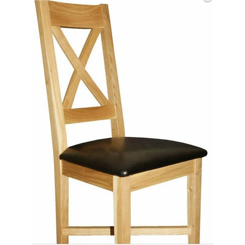 Cravony Cross Back Kitchen Dining Chair Solid Wood F...