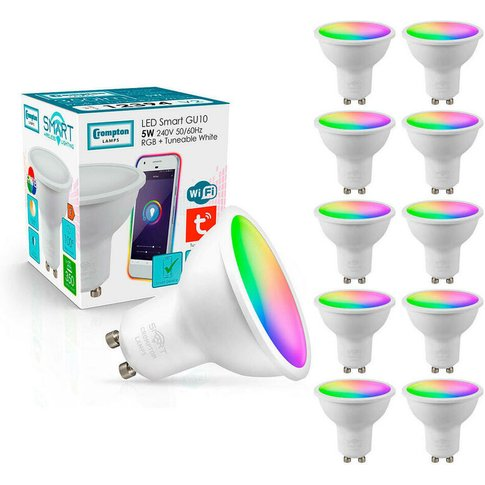 Crompton Lamps Led Smart Wifi Gu10 Spotlight 5w Gu10...