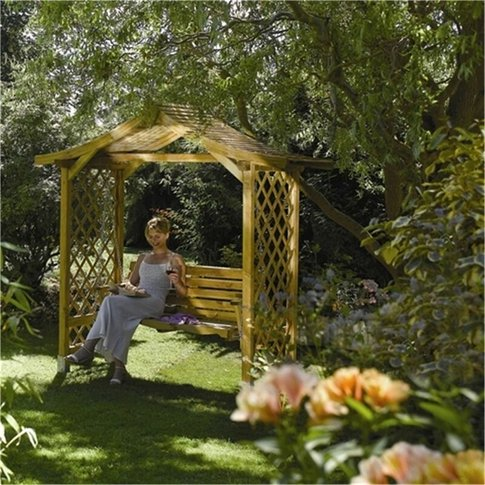 Deluxe Dartmouth Swing Set Arbour - Cheshire Arbours...