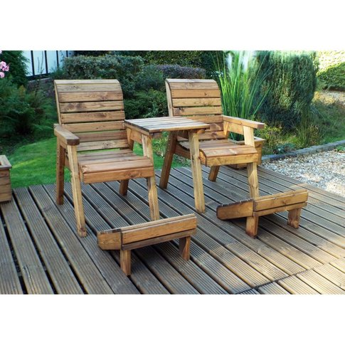 Deluxe Lounge Set-Straight Tray + 2 Foot Stools Hb11...