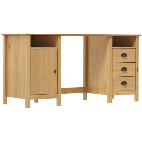 Desk Hill Range Honey Brown 150x50x74 Cm Solid Pine Wood - Youthup
