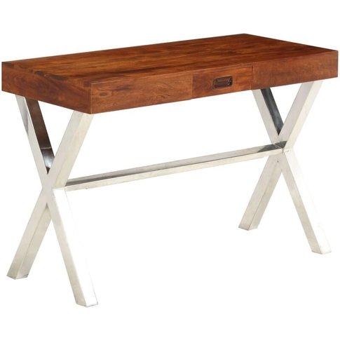 Desk Solid Acacia Wood Sheesham Finish 110x50x76 Cm ...