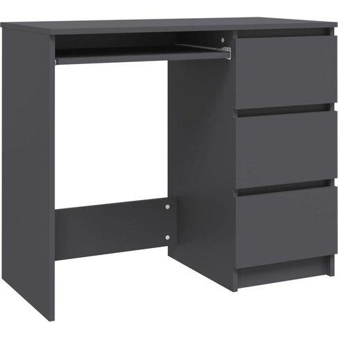 Desk 90x45x76 Cm Chipboard Grey - Vidaxl