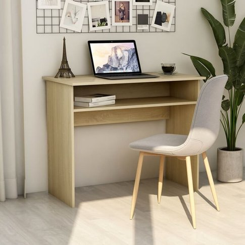 Vidaxl - Desk 90x50x74 Cm Chipboard Sonoma Oak