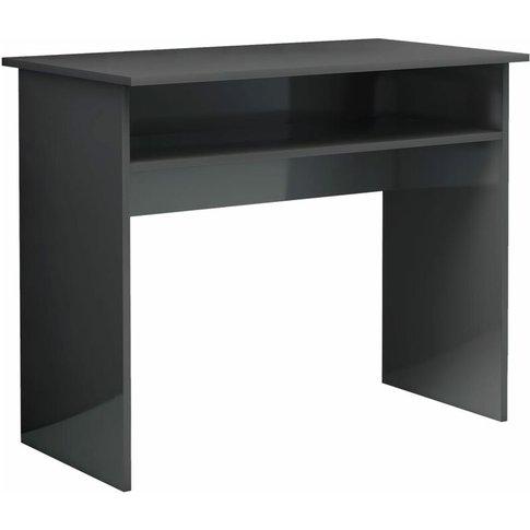 Vidaxl - Desk 90x50x74 Cm Chipboard High Gloss Grey