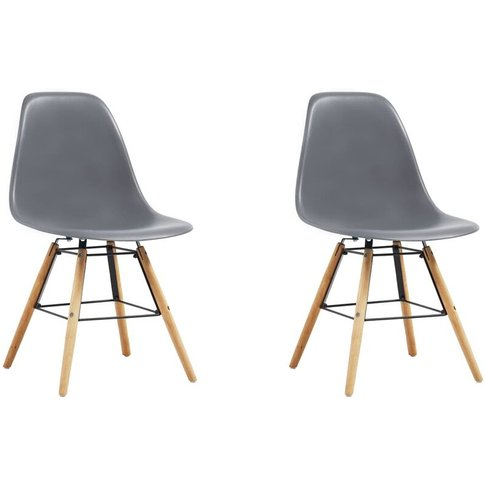 Dining Chairs Plastic 2 Pcs Grey - Vidaxl