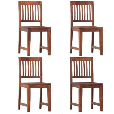 Dining Chairs 4 Pcs Solid Mango Wood - Vidaxl