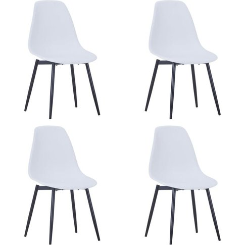 Dining Chairs 4 Pcs White Pp - Youthup