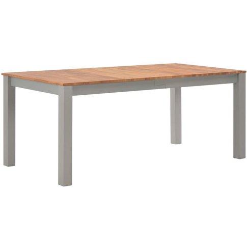Dining Table 180x90x74 Cm Solid Oak Wood - Vidaxl
