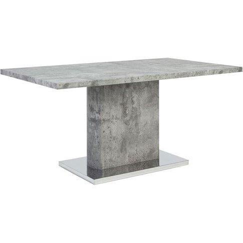 Dining Table 160 X 90 Cm Concrete Effect Pasadena - ...