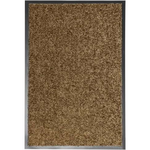 Vidaxl - Doormat Washable Brown 40x60 Cm
