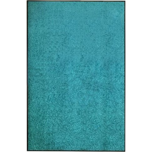 Doormat Washable Cyan 120x180 Cm - Vidaxl