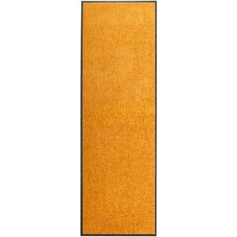Doormat Washable Orange 60x180 Cm - Vidaxl