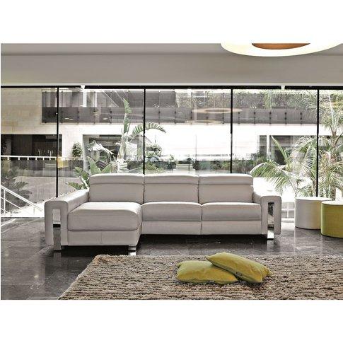 Dubai Italian Reclining Leather Corner Group Sofa Ar...