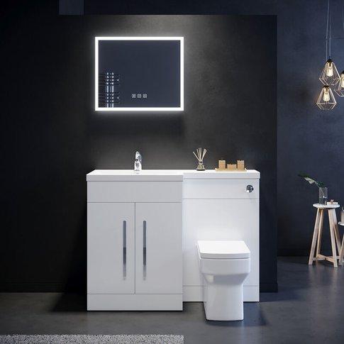 1100mm Bathroom Vanity Sink Unit Storage,High Gloss ...
