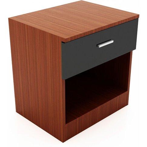 High Gloss Bedside Cabinet Night Stand Storage Shelf...