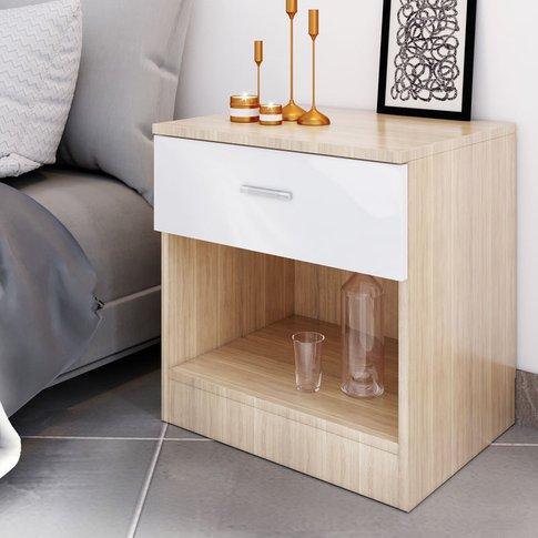 Modern High Gloss Bedside Cabinet Night Stand Storag...