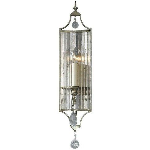 Elstead Gianna - 1 Light Indoor Candle Wall Light Silver, E14 - Elstead Lighting