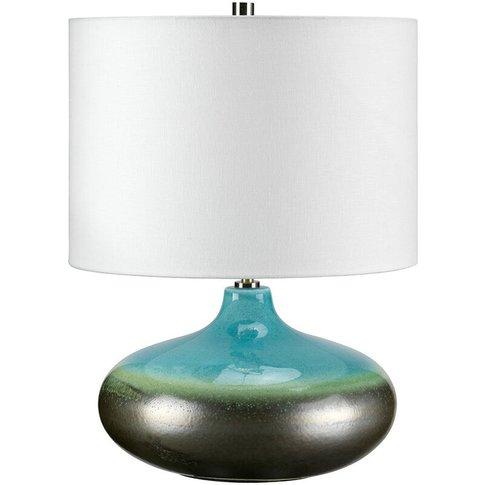 Elstead Laguna - 1 Light Small Table Lamp Graphite, ...
