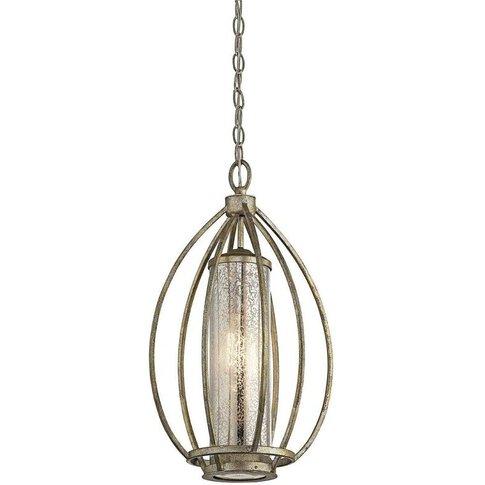 Elstead Rosalie - 1 Light Ceiling Pendant Light Gold, E27 - Elstead Lighting