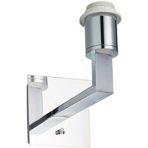 Norton - Wall Lamp Chrome Effect Plate 1 Light Dimmable Ip20 - E27 - Endon Lighting
