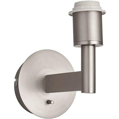 Owen - Wall Lamp Matt Nickel Plate 1 Light Dimmable ...
